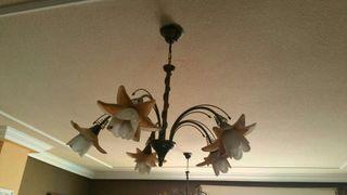 Preciosas lamparas de hierro forjado