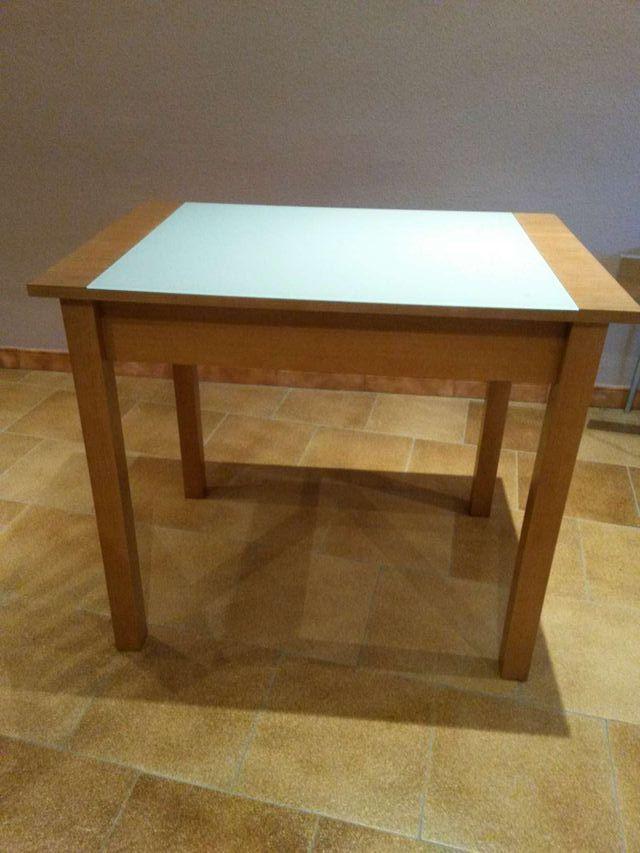 Oportunidad !!!!! #Mesa de #madera y cristal para cocina de segunda ...