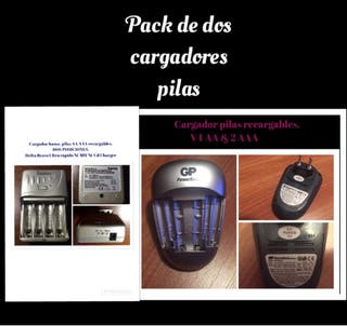 PACK DE CARGADORES PILAS AA Y AAA