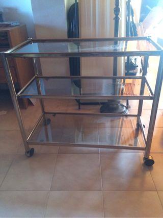 Mueble De Cristal con ruedas para televisor