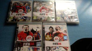 Lote FIFA PS3 todo 10 euros