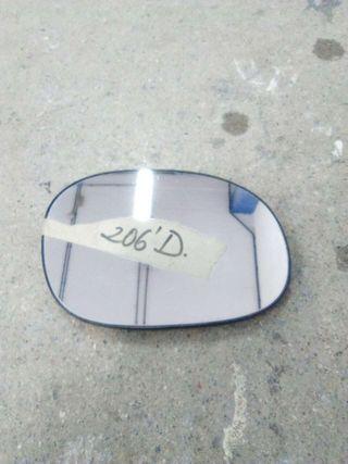 Cristal retrovisor peugeot 206