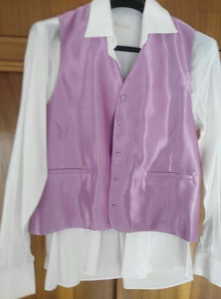 Camisa ,chaleco y corbata novio