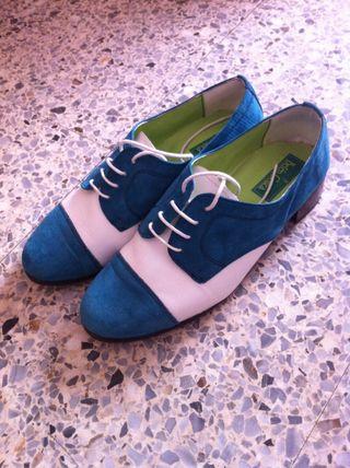 Zapatos Oxford Piel 38 Nuevos!