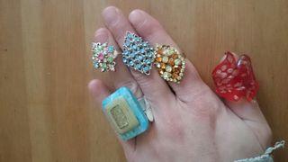 Lote 5 anillos fantasia