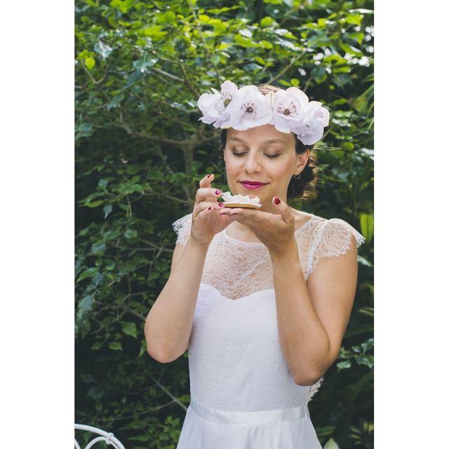 Couronnes Des Fleurs Mariage , Soie,romantique