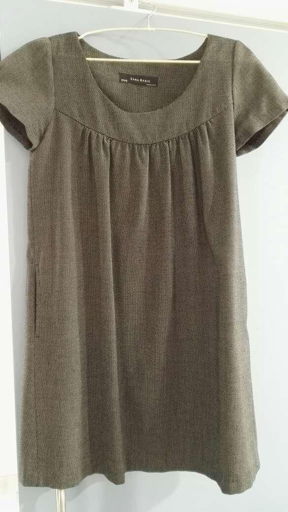 Vestido gris Zara talla L