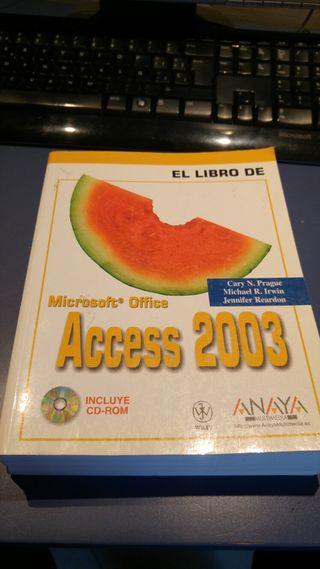 Libro MICTOSOFT ACCES 2003
