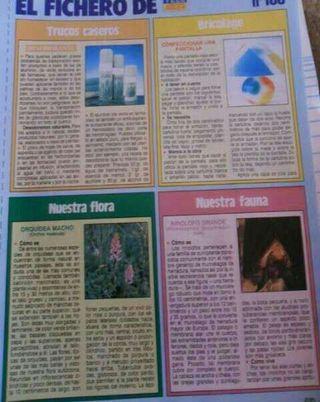 Fasciculos coleccionables de la revista teleindiscreta