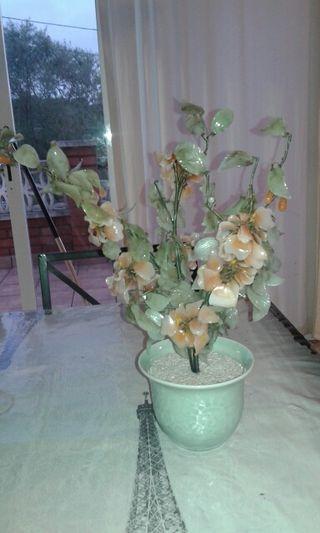 Maceta de flores de cristal vintage