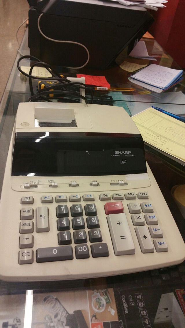 Calculadora sharp con ticket