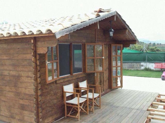 Casa madera casa de madera jard n terraza tico rural camping caravana de segunda mano - Casas de madera segunda mano valencia ...