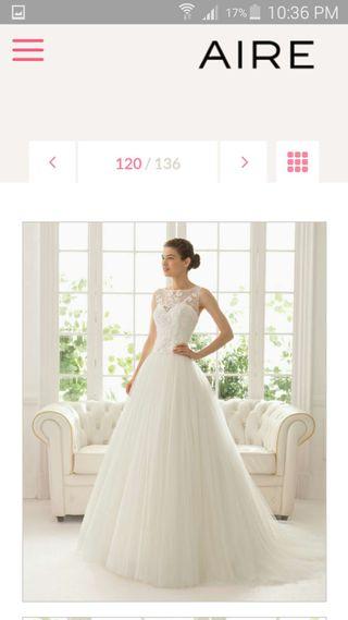 vestido de novia talla 36 de segunda mano en torremolinos en wallapop