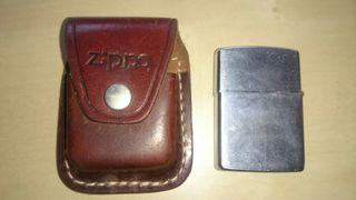 Mechero Zippo Original USA +funda de cuero