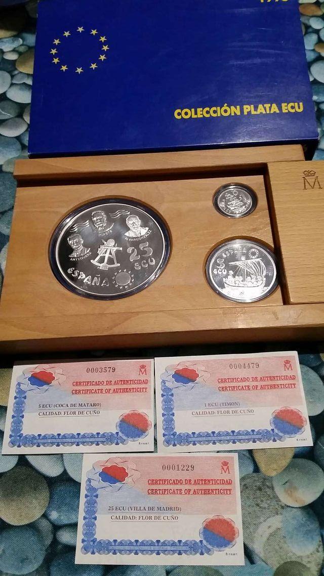 Estuche monedas plata Ecu 1996