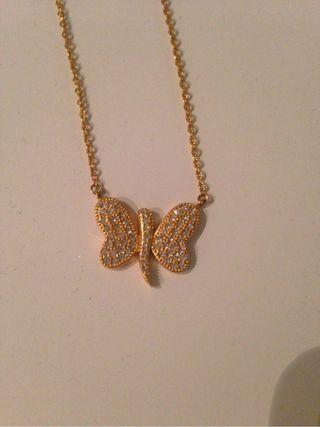 Collar Mariposa Oro Vivo