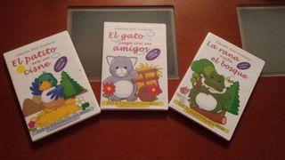3 DVD de estimulación para bebés