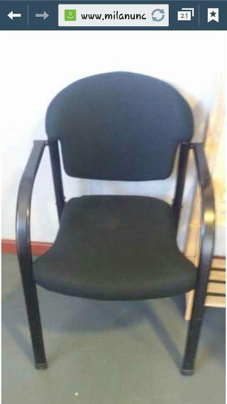 2 sillas de oficina negras