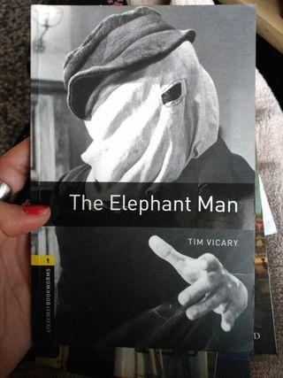 Libro inglés. The Elephant Man.