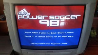 Juego psx playstation power soccer 98