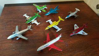 lote 10 aviones matchbox años 70