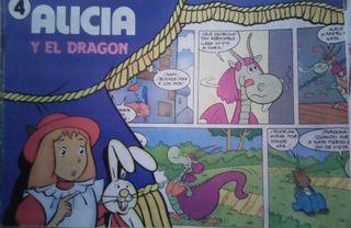 Cómic de Alicia en el país de las maravillas de las galletas Cuétara