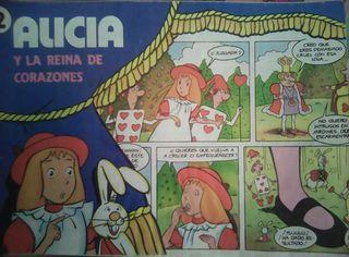 Comic de Alicia en el País de las Maravillas de las galletas Cuétara