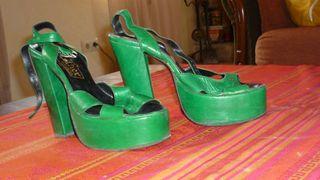 zapatos plataforma superaltos 37