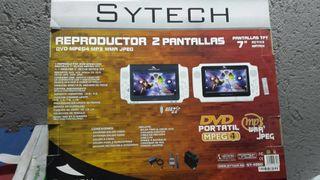 Reproductor DVD portátil Con 2 Pantallas