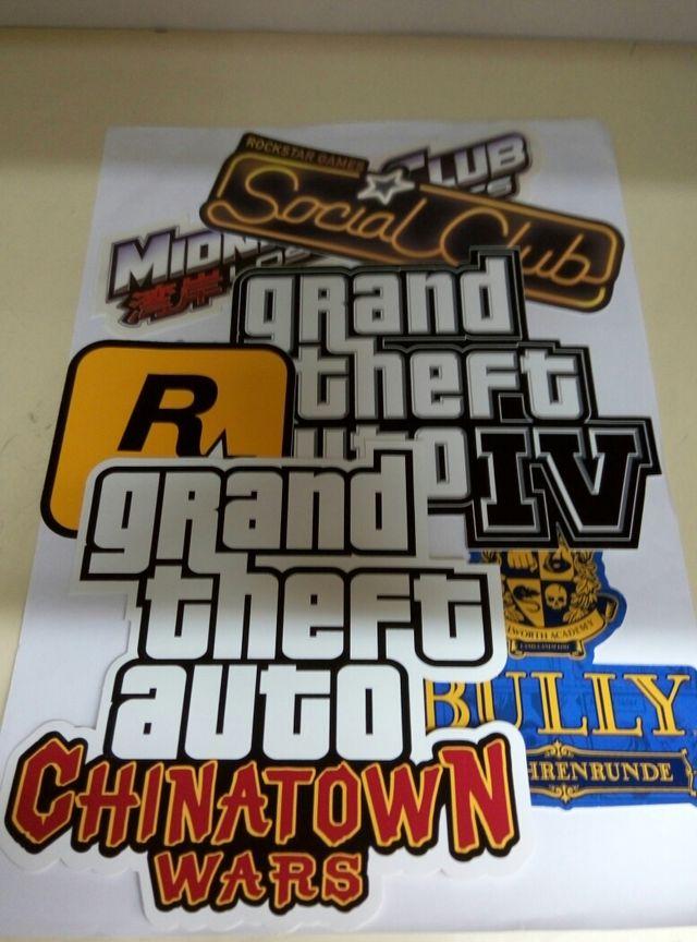 Set de 6 pegatinas de Rockstar
