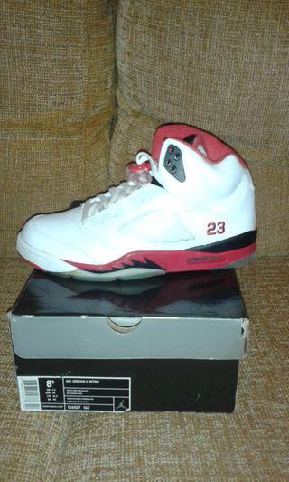 Nike Air Jordan 5 Fire Red EUR42 Nueva Sin Uso