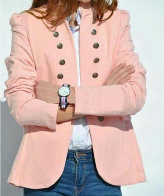 Blazer militar Rosa pastel