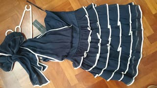 Vestido navy marinero volantes French Connection