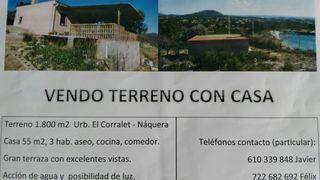 Terreno de 1600m con casa en Naquera