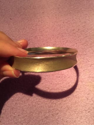 Pulsera brazalete de plata