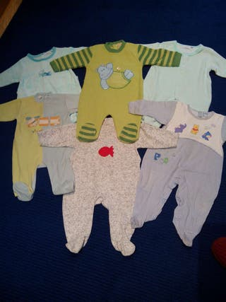 6 pijamas talla 6 meses