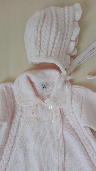 Abrigo niña rosa