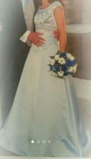 Vestido novia azul o quinceañera + REGALO