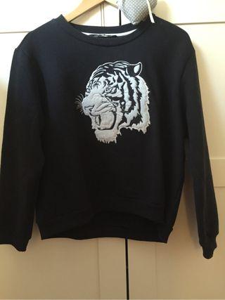 Jersey estampado cabeza tigre estilo Kenzo