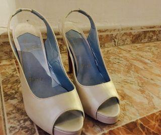 Suela Roja Blanco Zapatos Tacon Novia x4XttS