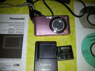 Cámara fotográfica Lumix DMC FS62 rosa