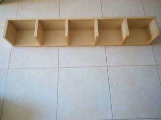 2 Estantes de madera para colgar en la pared