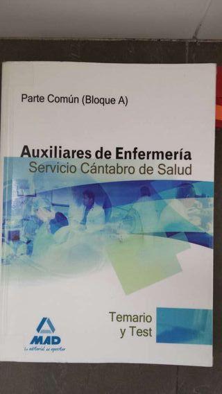 LIBRO DE OPOSICIONES DE AUX.ENFERMERIA. CANTABRIA