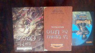 Lote de libros de fantasia -drizzt do urden - magic - tribuo de uno