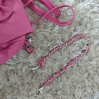 Bolso rosa chicle lazo