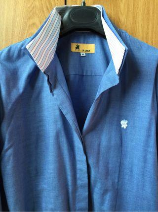 Camisa Algodon Azul La Jaca
