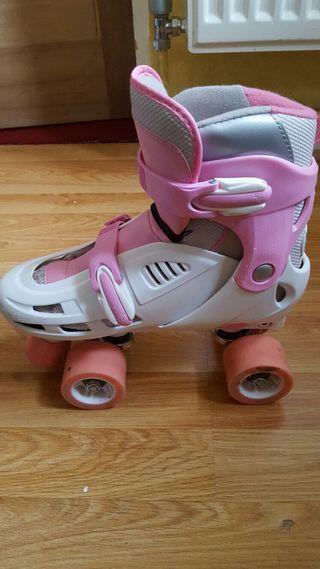 Girls Pink QUAD Skates