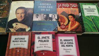 Libros de Antonio Gala y Antonio Muñoz Molina