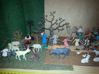 46 Piezas Figuras Belén Navidad Años 70