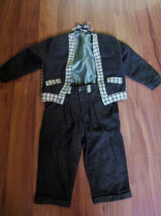 traje vintage niño pequeño